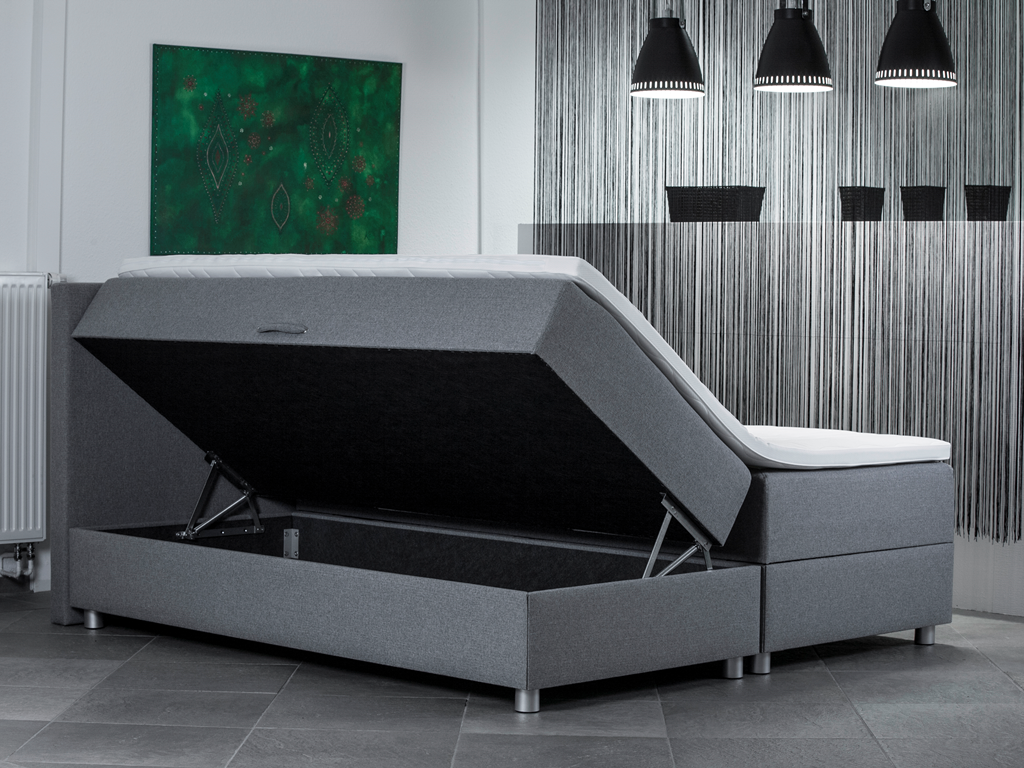 boxspring met opbergruimte subliem slapen. Black Bedroom Furniture Sets. Home Design Ideas