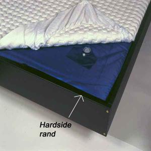 hardside waterbed, waterbed, watermatrassen, onderdeken waterbed, waterbed leegpompen, waterbed lek, waterbedconditioner, waterbed vullen