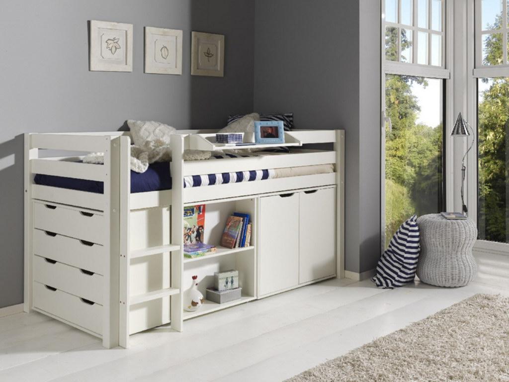 halfhoogslaper bureau, halfhoogslaper ladenkast, halfhoogslaper boekenkast, kinderledikanten,